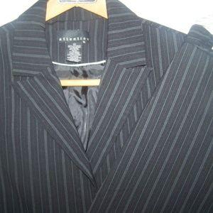 Attention Skirt Suit Jacket Size 10 Black Stripe